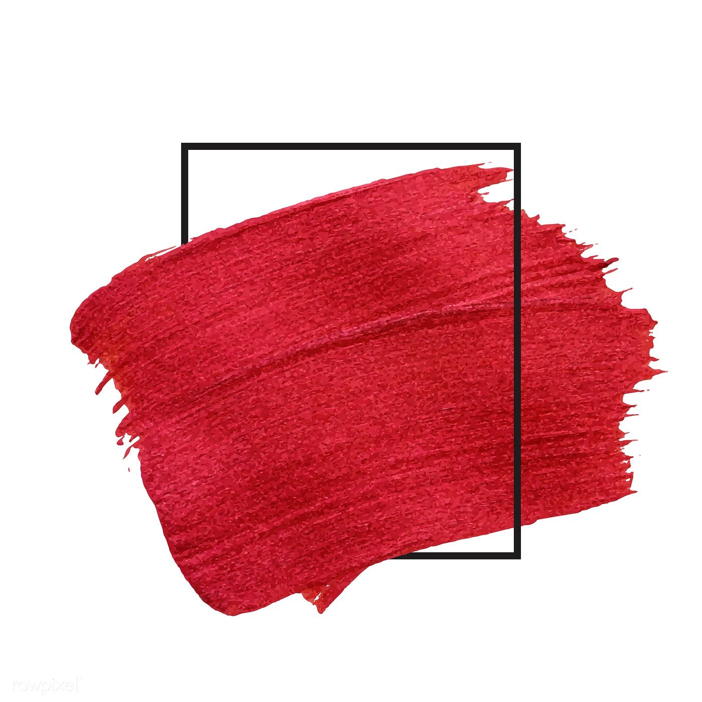 Red Brush Stroke Badge Vector Free Image By Rawpixel Com Ake