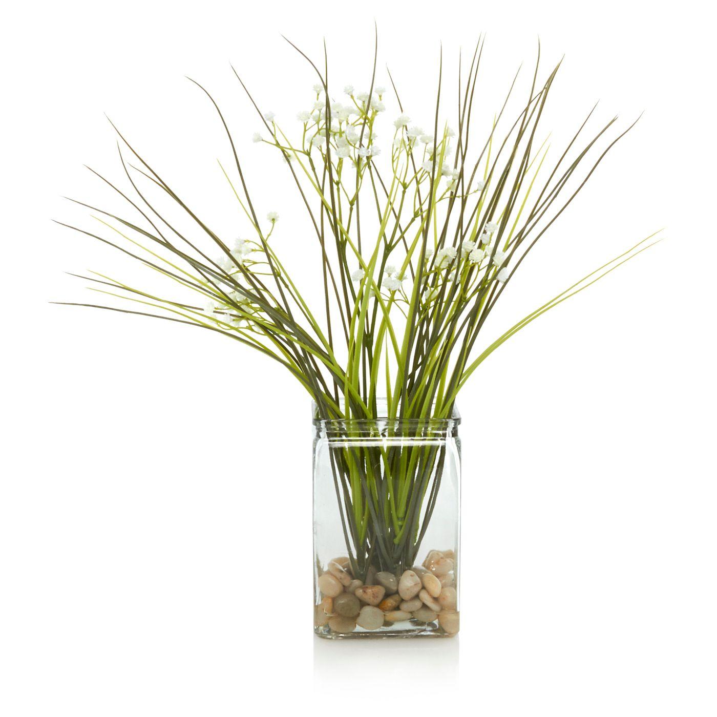 George Home Artificial Grass & Vase | Vases | ASDA direct | Living ...