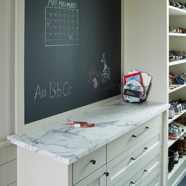 FORMICA 5 ft. x 12 ft. Laminate Sheet in 180fx Calacatta Marble with SatinTouch Finish-034601211512000 - The Home Depot