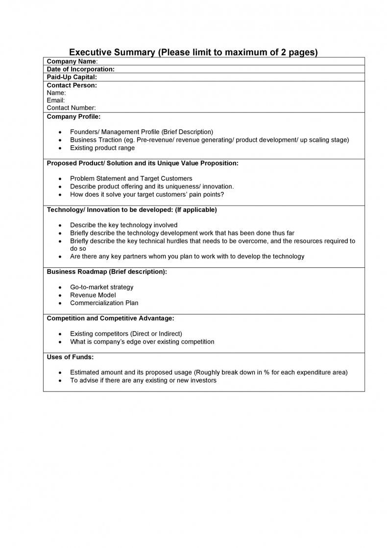 Word Executive Summary Template Best Of Executive Summary Template Word Example E Marketing Plan Outline Executive Summary Template Event Planning Business