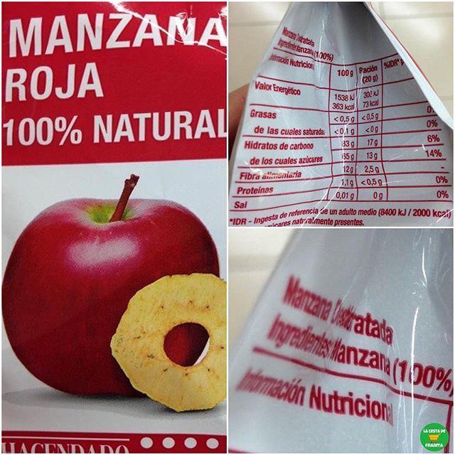 Snack De Manzana Roja Deshidratada Hacendado Novedad En