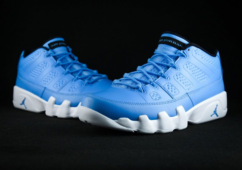 "571511a015a The Air Jordan 9 Low ""Pantone"" is first up, as that North Carolina shade of  University Blue ..."