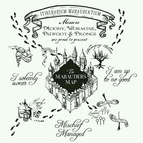 The Marauder S Map Harry Potter Marauders Map Marauders Map