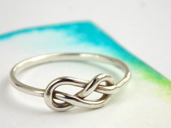 Infinity Knot Ring-- Sterling silver ring, love ring, love knot, promise ring, infinity friendship ring $25