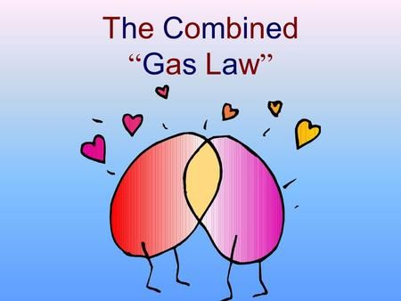 """The Combined """" Gas Law """"  Various Gas Laws Boyles Law"""