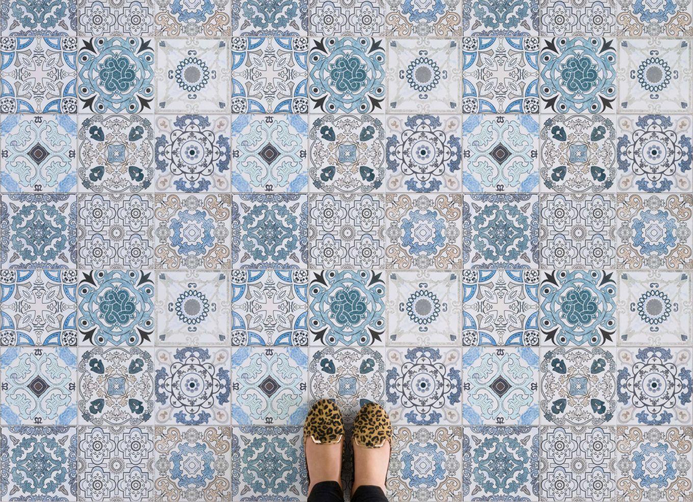 Blue tile effect vinyl flooring vinyl flooring tile