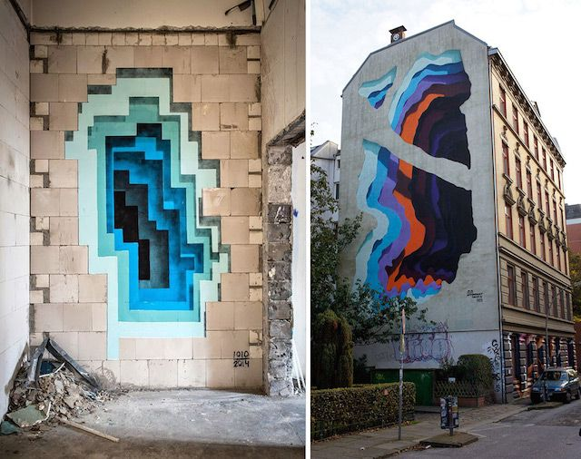 Hidden Portals Of Color In Walls Street Artists Street Art Street Art Graffiti