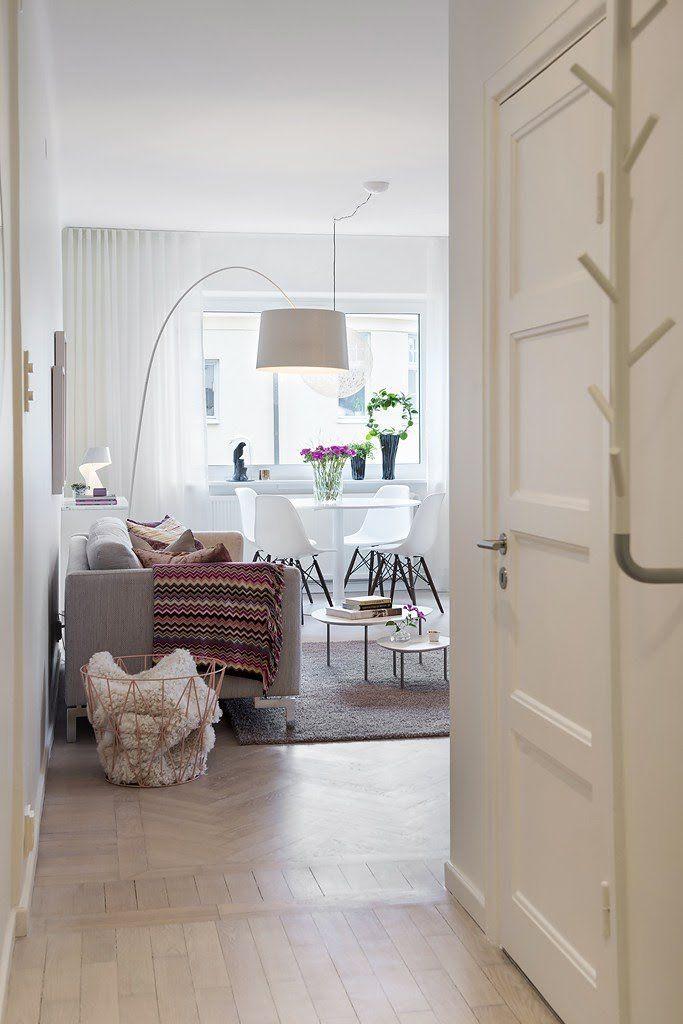 piso pequeño bien aprovechado estilo nórdico decoración primavera