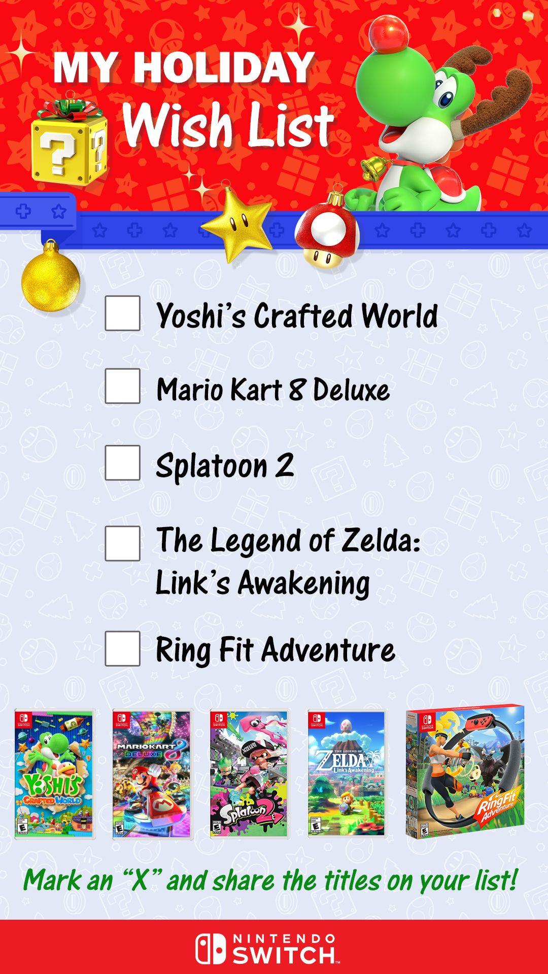 Nintendo Holiday Wish List 2 Holiday Wishes Nintendo Free Eshop Codes
