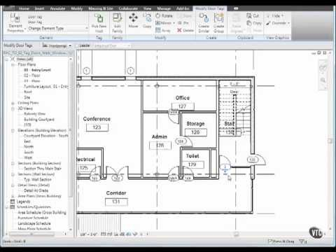 13 02 Autodesk Revit Tag Doors Windows Walls Mov Autodesk Revit Revit Architecture Revit Tutorial