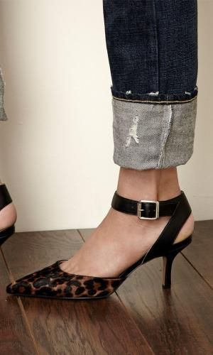 d0afe2304f16 Pointed toe d orsay mid heel in genuine suede with adjustable ankle strap  and buckle detail. by leanna