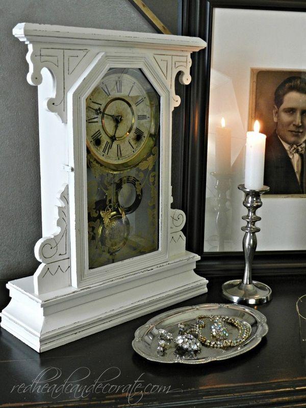 Clock Makeover Redhead Can Decorate Decor Clock Vintage Home Decor