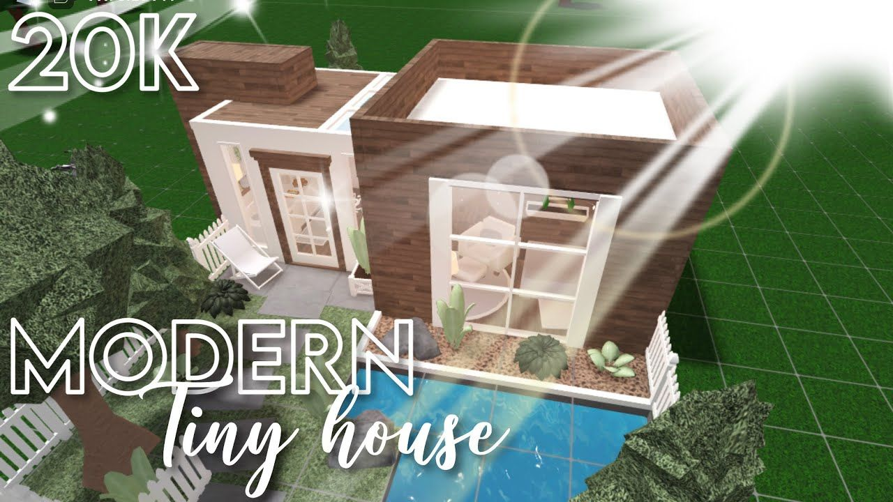 20k Modern Tiny House Bloxburg Roblox Speedbuild Youtube In 2020 Modern Tiny House Tiny House Cute House
