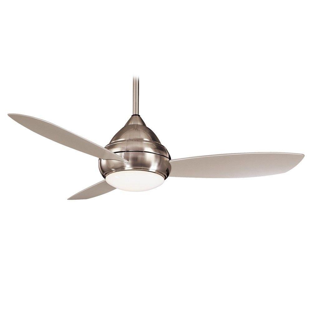Concept I Ceiling Fan By Minka Aire Fans F517 Bn Brushed Nickel Contemporary W Light Ceiling Fan Unique Ceiling Fans Wet Rated Ceiling Fans