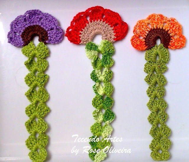 Tecendo Artes em Crochet: Marcador de Livros