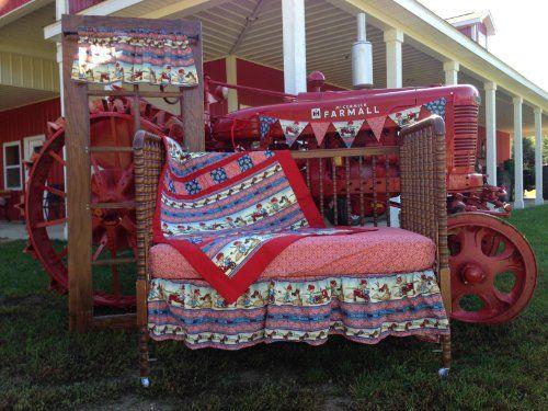 Farmall IH Little Farmer Crib Bedding Nursery Set  http://www.babystoreshop.com/farmall-ih-little-farmer-crib-bedding-nursery-set/
