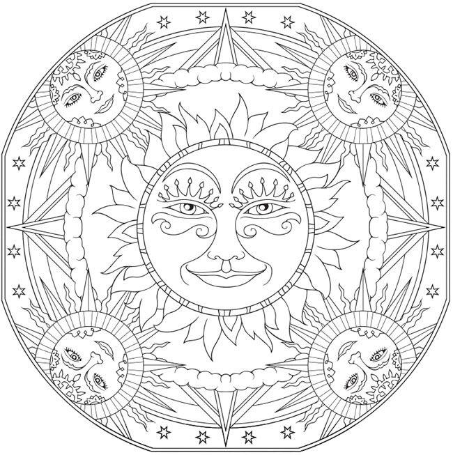 Welcome to Dover Publications: Creative Haven Celestial Mandalas ...