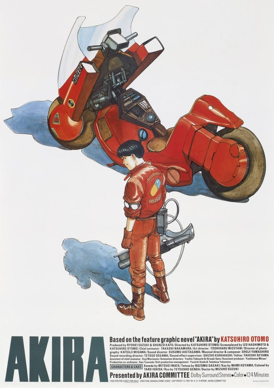 Akira Anime A2 Poster 1988, Katsuhiro Otomo comics manga