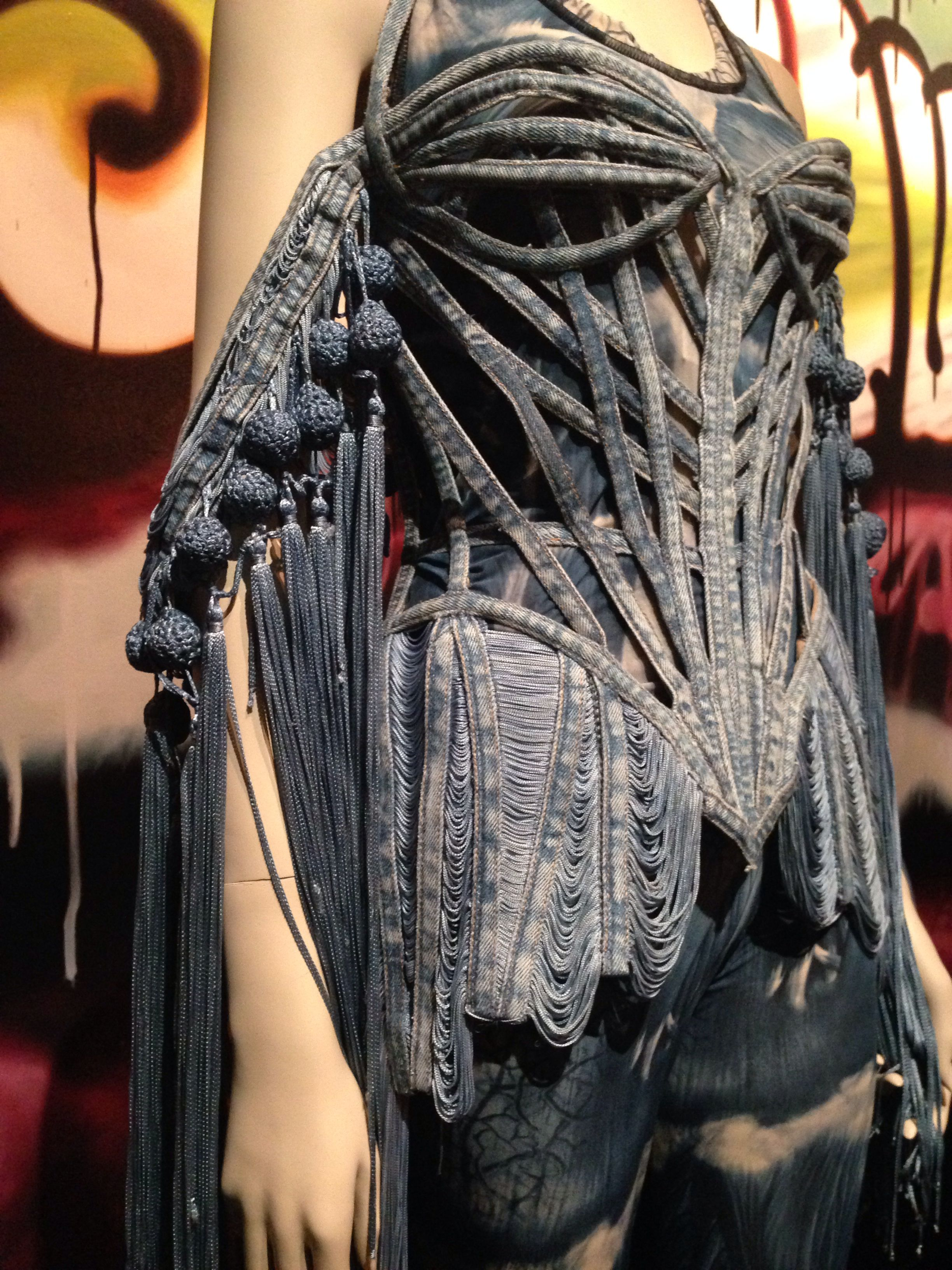 jean paul gaultier denim ensemble brooklyn museum. Black Bedroom Furniture Sets. Home Design Ideas