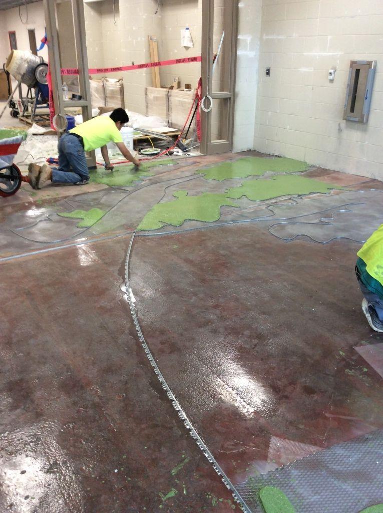 Installing A Terrazzo Design Carolina Park Elementary