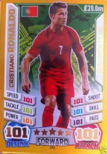 272 Cristiano Ronaldo Match Attax England 2014 Portugal 100 Hundred Club Match Attax Football Cards Cristiano Ronaldo