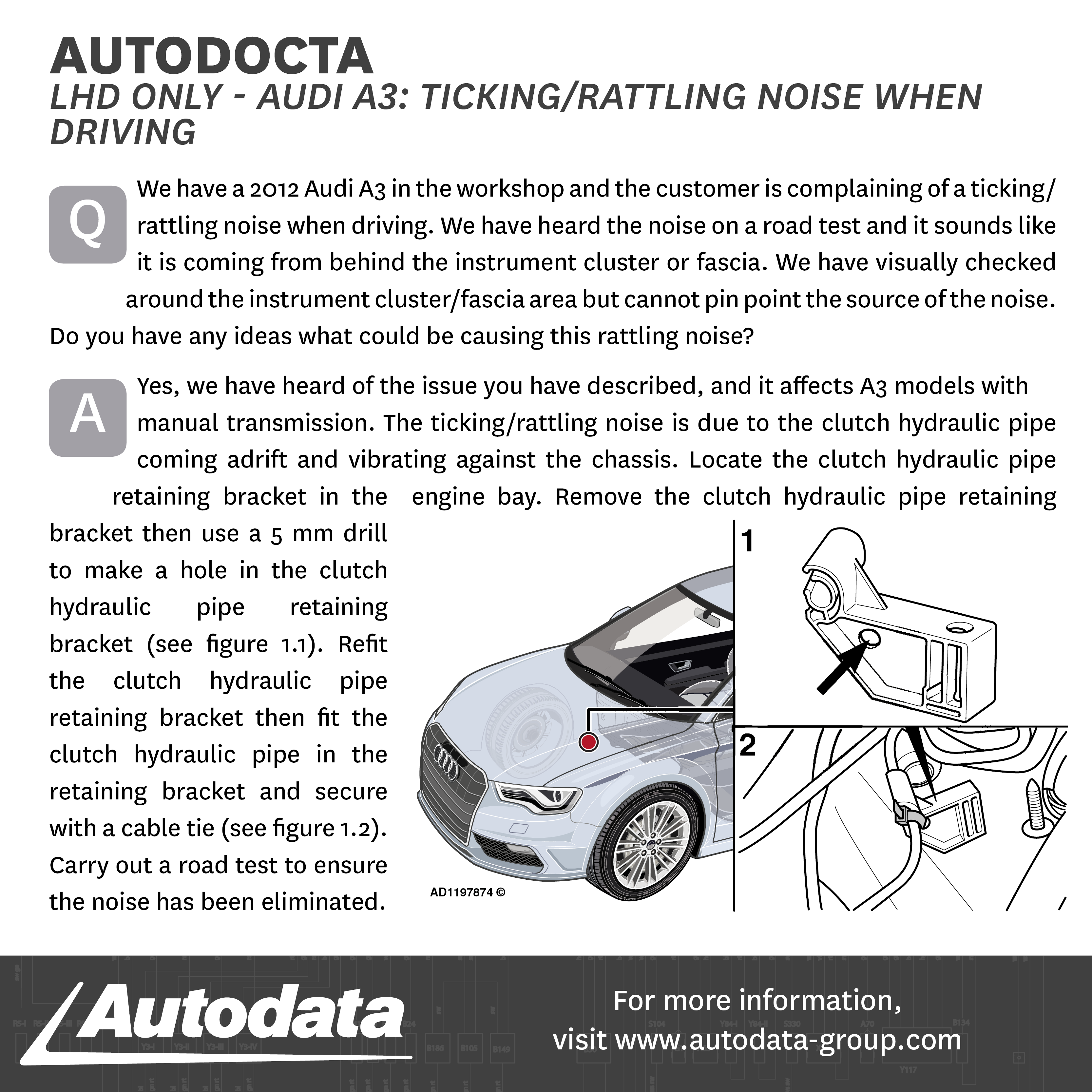 Today s Autodocta relates to a golf with a knocking noise ing