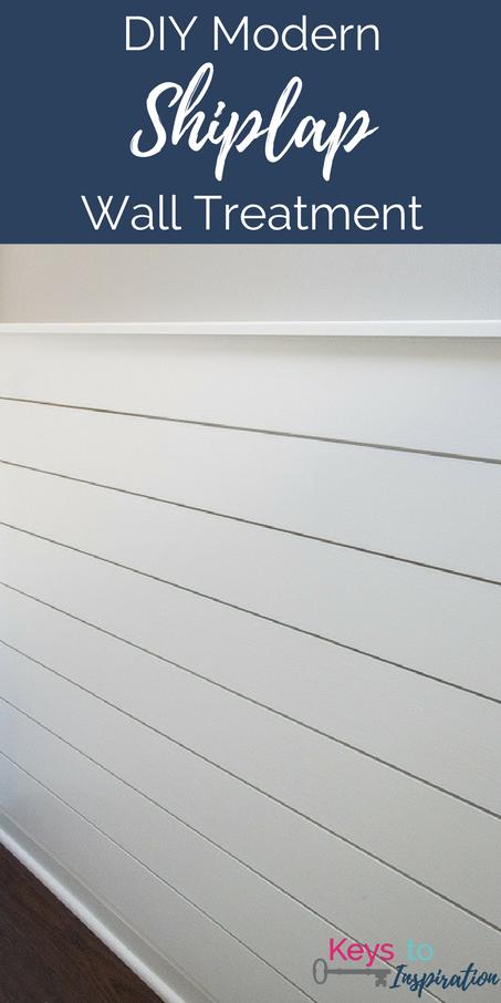 DIY Modern Shiplap Wall Treatment » Keys To Inspiration