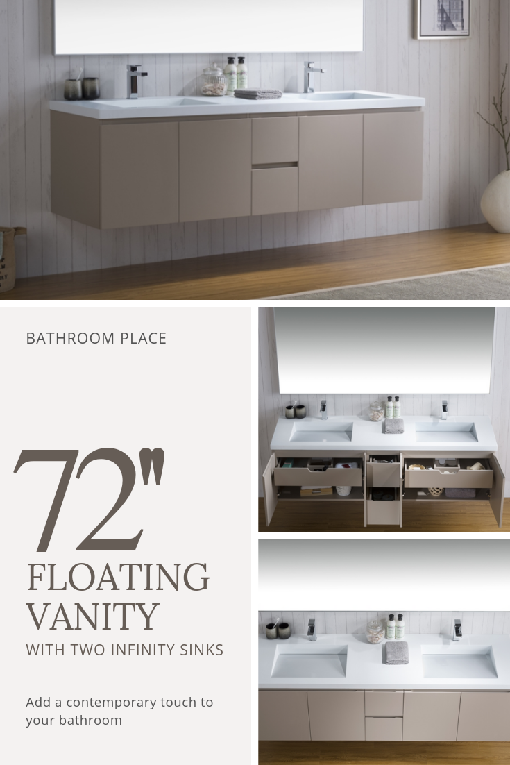 Floating Bathroom Vanities Space And Style To Spare Paperblog Floating Bathroom Vanities Vessel Sink Bathroom Vanity Bathroom Vanity Designs