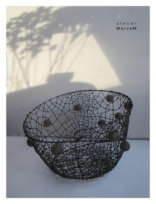 Košíček s hnědými recy korálky / Zboží prodejce MervaM | Fler.cz