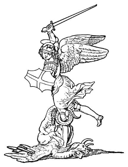 St Michael Catholic Coloring Page Arcanjo