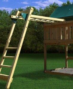 Plan It Play Monkey Bar AddOn Kit Cubby House Ideas - Build monkey bars ladder