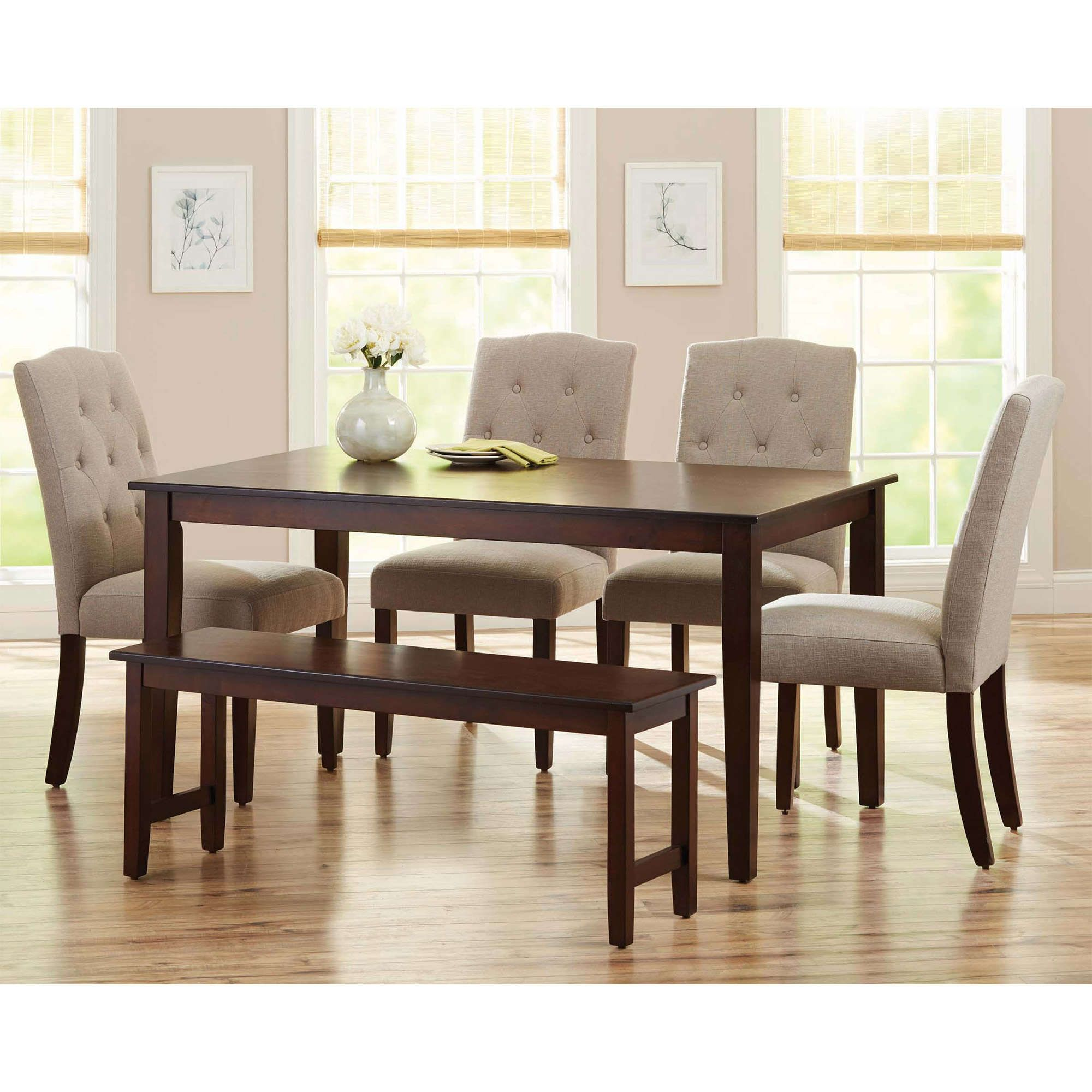 Better Homes And Gardens Bankston Dining Bench Mocha