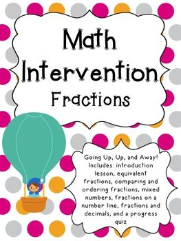 This 4th Grade Fractions Intervention Pack Is To Help With Your In