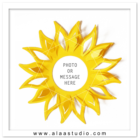pop out sunflower frame - Sunflower Picture Frames