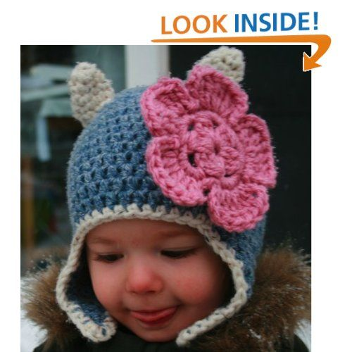 Crochet Pattern Baby Cat Beanie Hat With Earflaps Includes 4 Sizes
