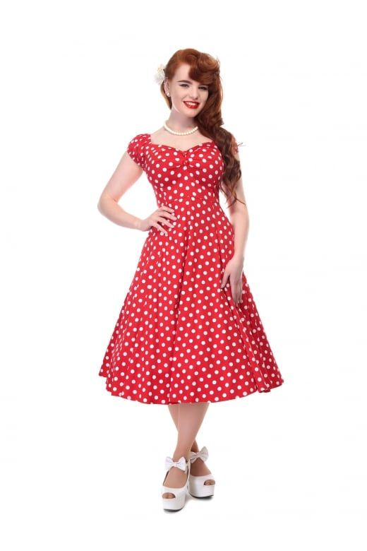 5bbba463239a Collectif Mainline Dolores Doll Dress Polka