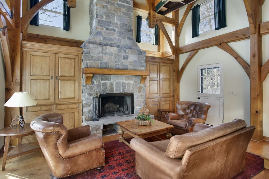 201 Family Room Design Ideas For 2018  Brown Leather Chairs Wood Gorgeous Living Room Designs With Fireplace Decorating Inspiration