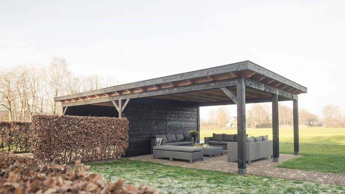 Buitenpracht Houtbouw Dubbele carport met zonnepanelen
