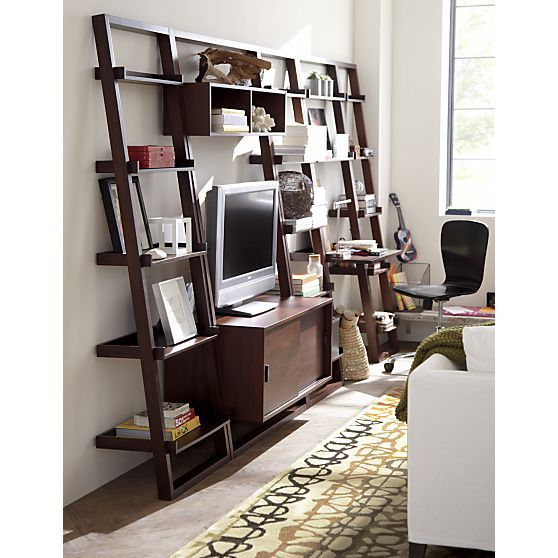 i would enjoy more as a bookshelf sloane java leaning colletion crate and barrel - Crate And Barrel Bookshelves