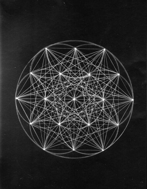 Drawing Mandala Lines Flower Of Life Sacred Geometry -5859