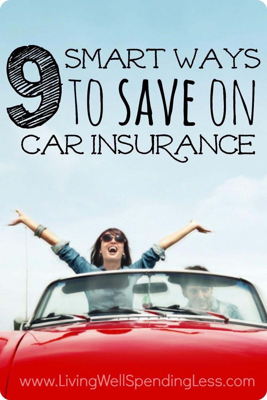 9 smart ways to save on car insurance car insurance. Black Bedroom Furniture Sets. Home Design Ideas