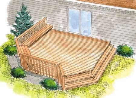 Wooden Deck Outdoor Deck Ideas Plans Deck Designs Backyard Decks Backyard Deck Design Plans