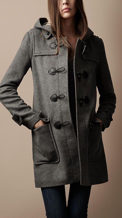 db821b0dc70f2 Check Lined Duffle Coat Burberry Wool Coat