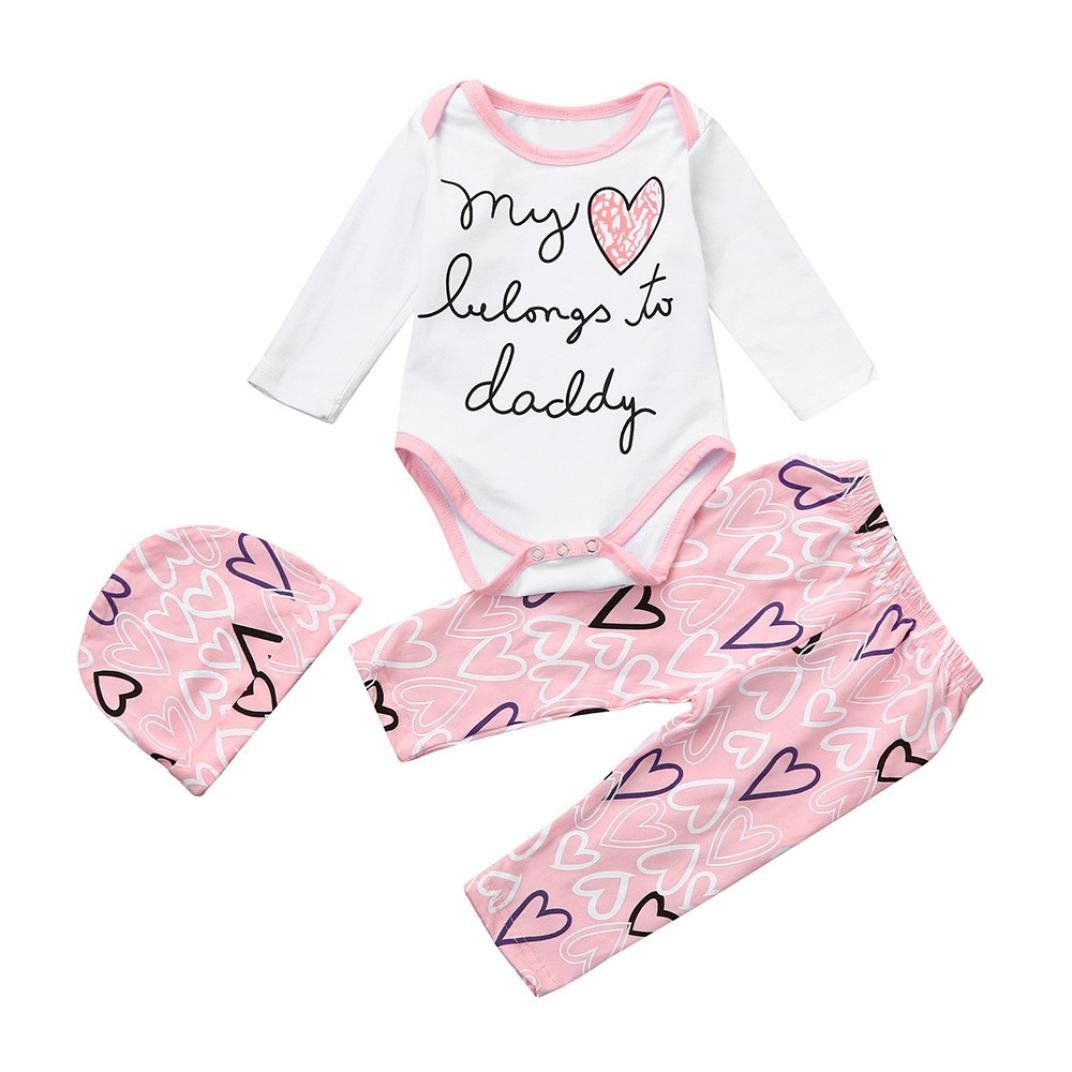 Newborn Infant Outfits Malada Newborn Infant Baby Girl Letter Romper Tops Heart