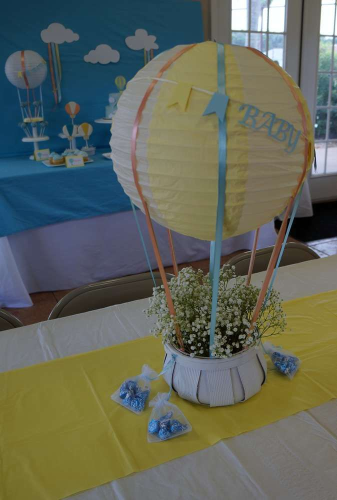 Hot Air Balloon Baby Shower Party Ideas Baby Shower Parties