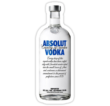 Absolute Vodka Stickers By Kailawineland1 Redbubble Vodka Absolut Liquor List