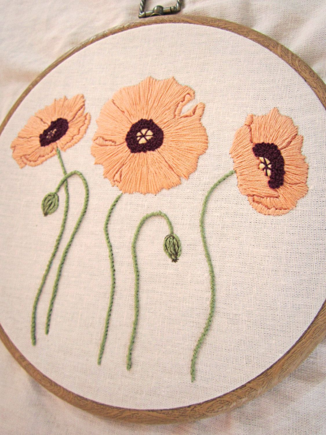 Floral hand embroidery design easy pdf by stitchfloraldesigns