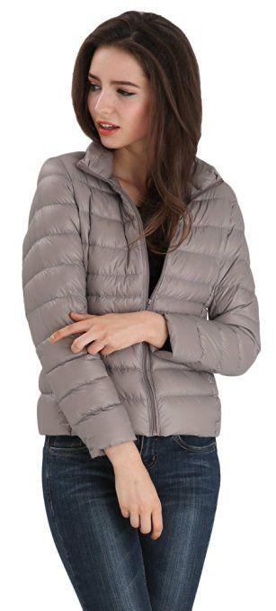 Wantdo Women S Packable Ultra Light Weight Short Down Jacket At Amazon Women S Down Jacket Jackets Women