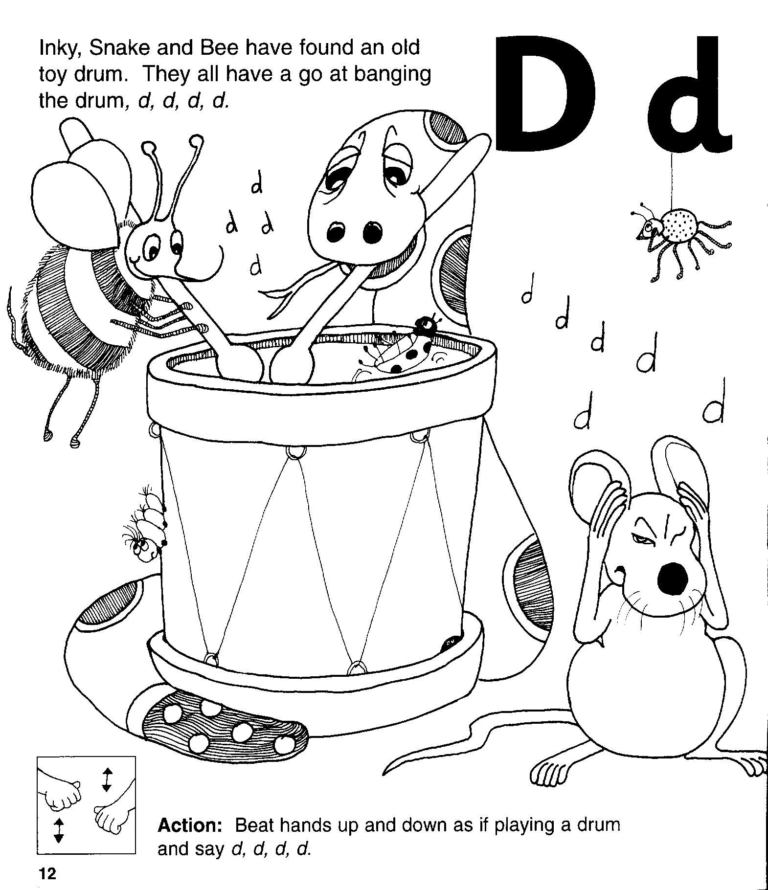 Jolly Phonics D Words Learning How To Read
