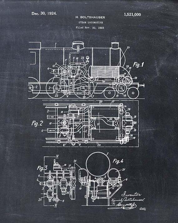 Steam locomotive patent print steam engine patent art print steam steam locomotive patent print steam engine patent by visualdesign malvernweather Gallery